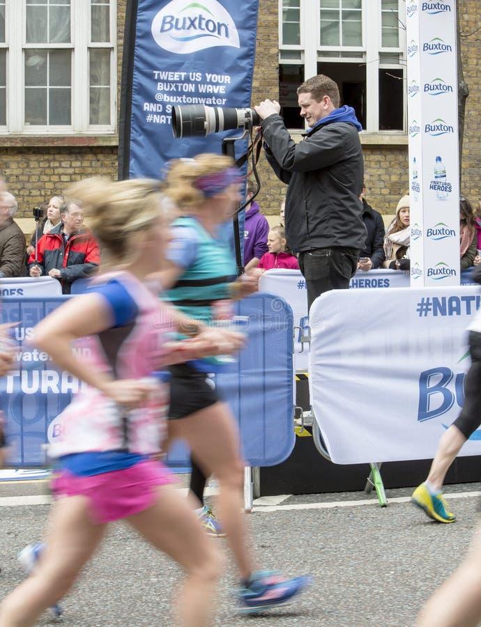 Maratona vergine di Londra dei soldi, il 24 aprile 2016 immagini stock