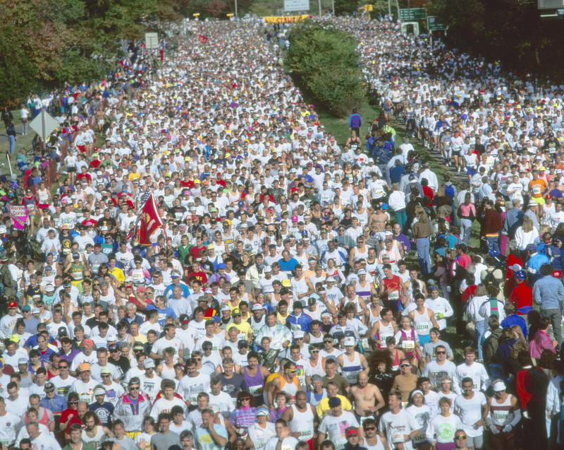 maratonflotta royaltyfri bild