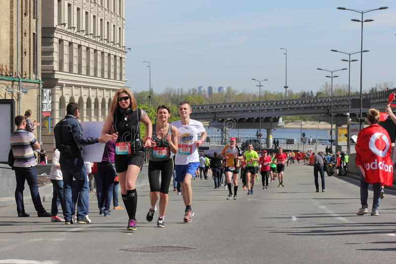 Maratonhastighet royaltyfri fotografi