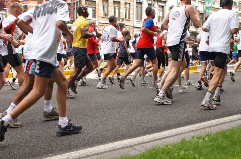 maratonlöpare arkivfoto