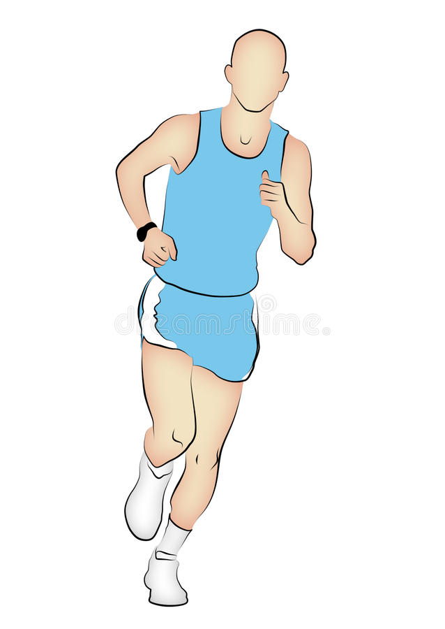 maratonu biegacz ilustracja wektor