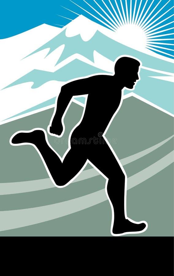 maratonu rasy bieg biegacz royalty ilustracja