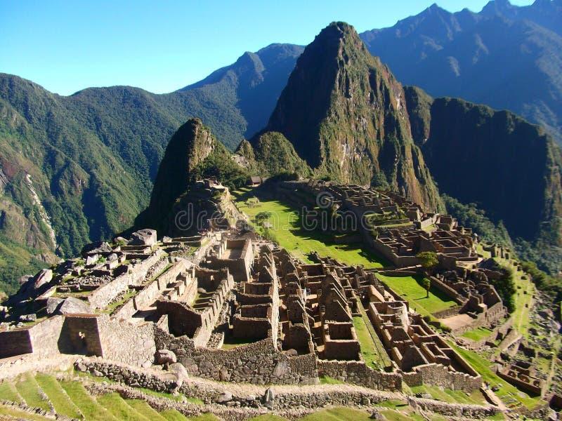Maravilha Ámérica do Sul do mundo das ruínas de Machu Picchu Peru Inca foto de stock