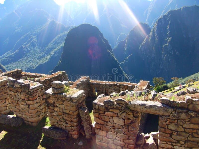 Maravilha Ámérica do Sul do mundo das ruínas de Machu Picchu Peru Inca fotografia de stock