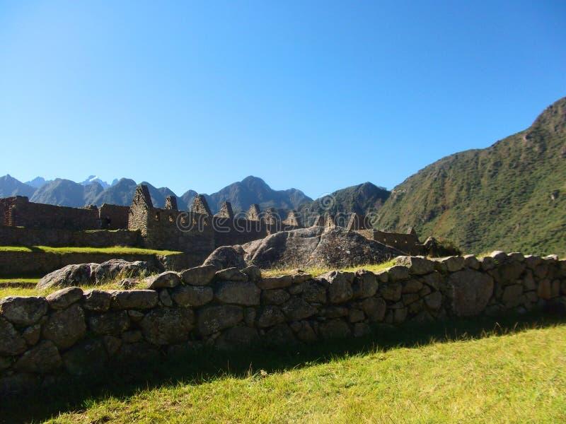 Maravilha Ámérica do Sul do mundo das ruínas de Machu Picchu Peru Inca fotografia de stock royalty free