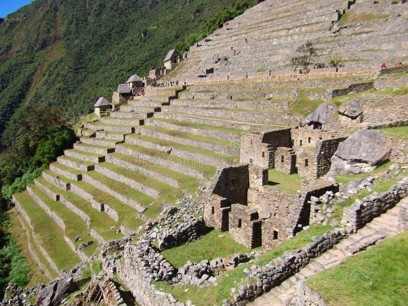 Maravilha Ámérica do Sul do mundo das ruínas de Machu Picchu Peru Inca foto de stock royalty free