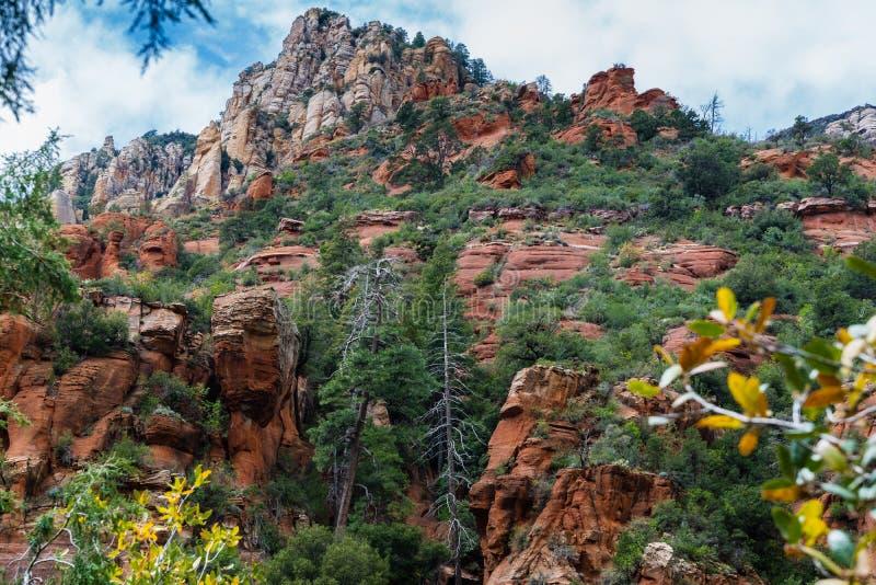 Maravilha nas maravilhas naturais de Sedona o Arizona EUA imagens de stock royalty free