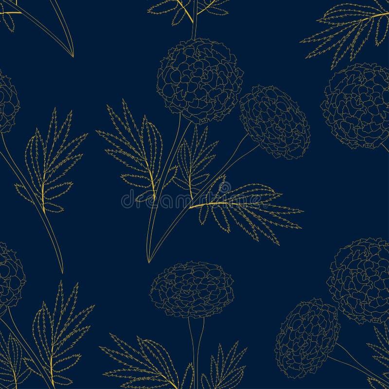 Maravilla amarilla en fondo de los azules añiles Ilustración del vector ilustración del vector