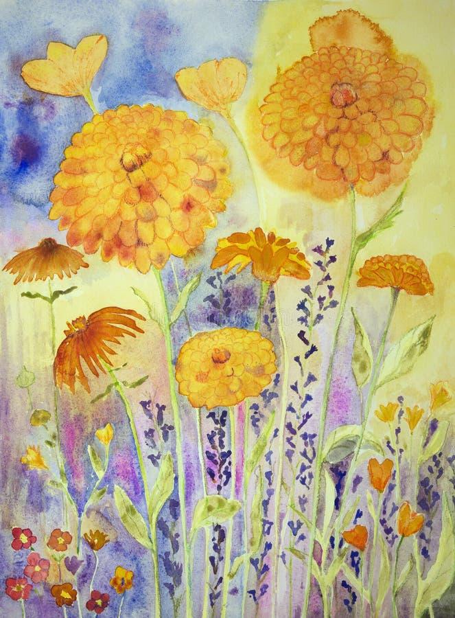 Maravilla en un campo soleado libre illustration