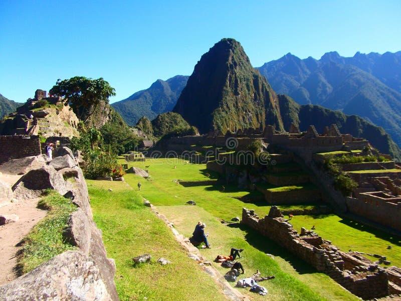 Maravilla Suramérica del mundo de las ruinas de Machu Picchu Peru Inca imagen de archivo libre de regalías