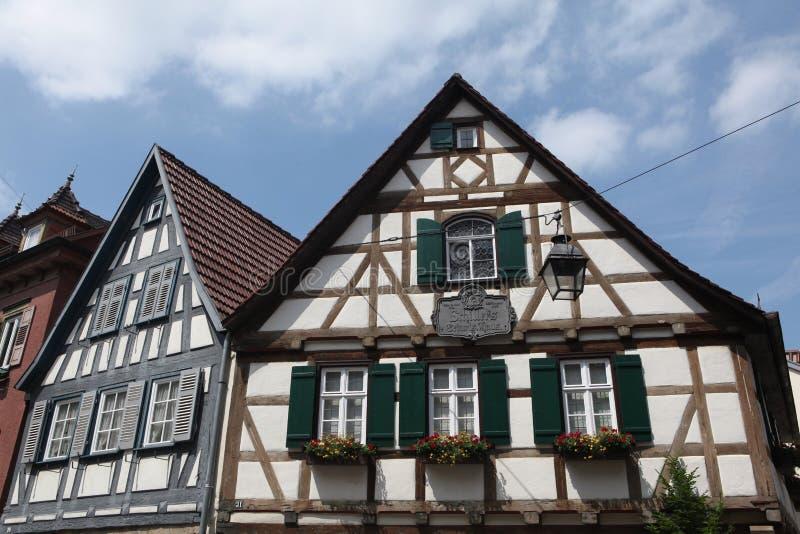Marbach am Неккар, Баден-Wurttemberg, Германия стоковые фото