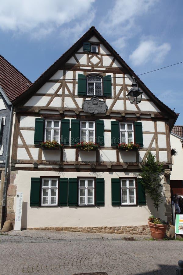 Marbach am Неккар, Баден-Wurttemberg, Германия стоковое изображение