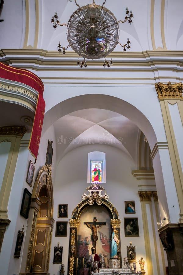 MARBELLA ANDALUCIA/SPAIN - MAJ 23: Kristus på korset i arkivbilder
