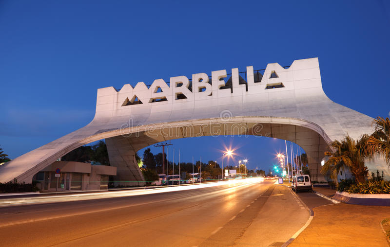 Download Marbella Arch At Night. Spain Stock Image - Image: 25056321