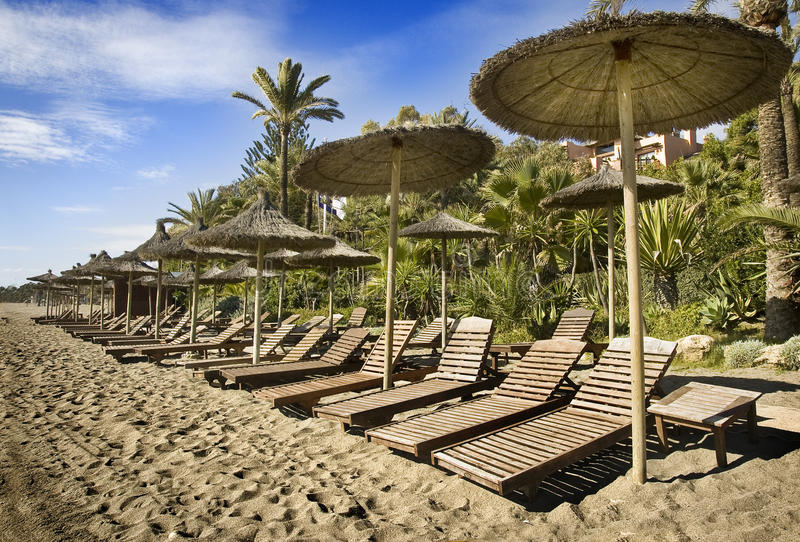Marbella beach royalty free stock photo