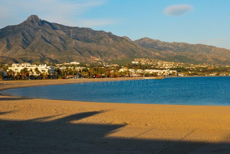 Marbella beach stock image