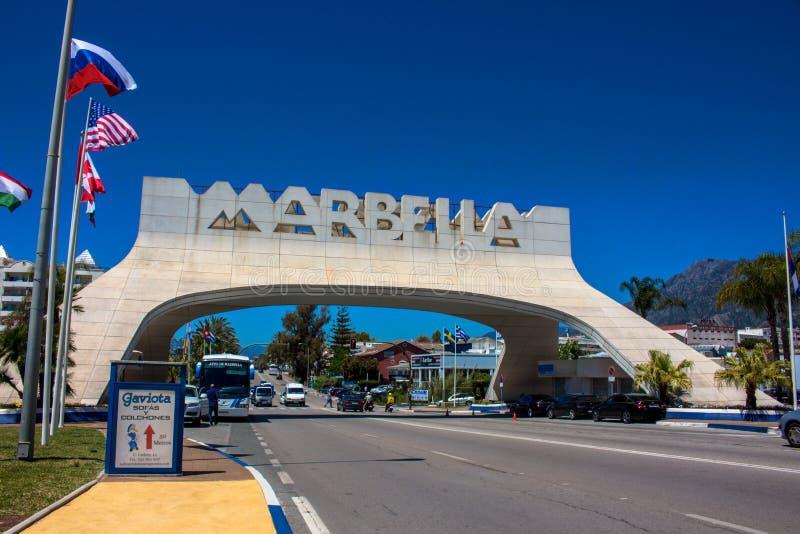 Marbella Boog royalty-vrije stock afbeeldingen