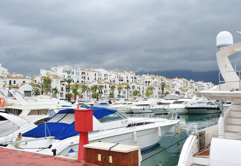 Marbella-Hafen stockfotografie