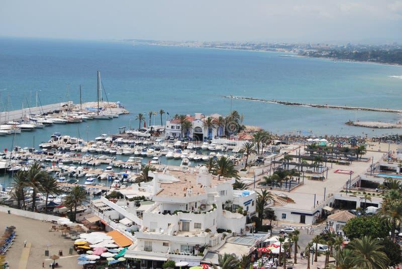 Marbella-Hafen stockfoto