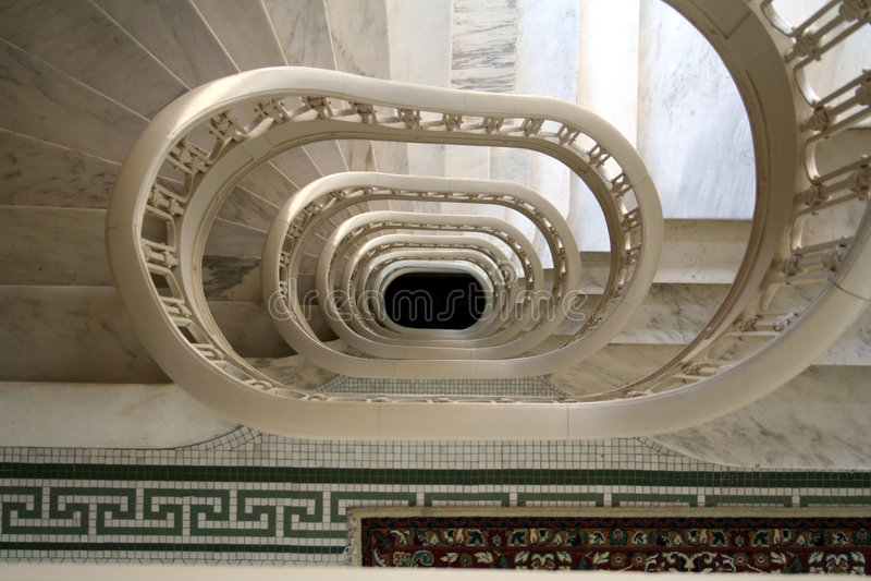 Marbla Stairs stock photography
