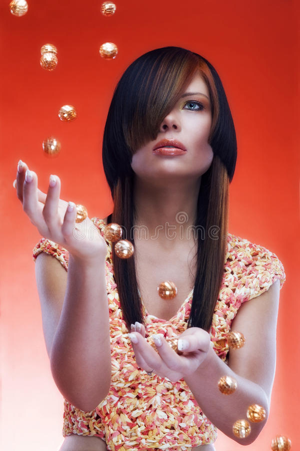 Download Marble stock image. Image of clever, orange, marble, game - 15029895
