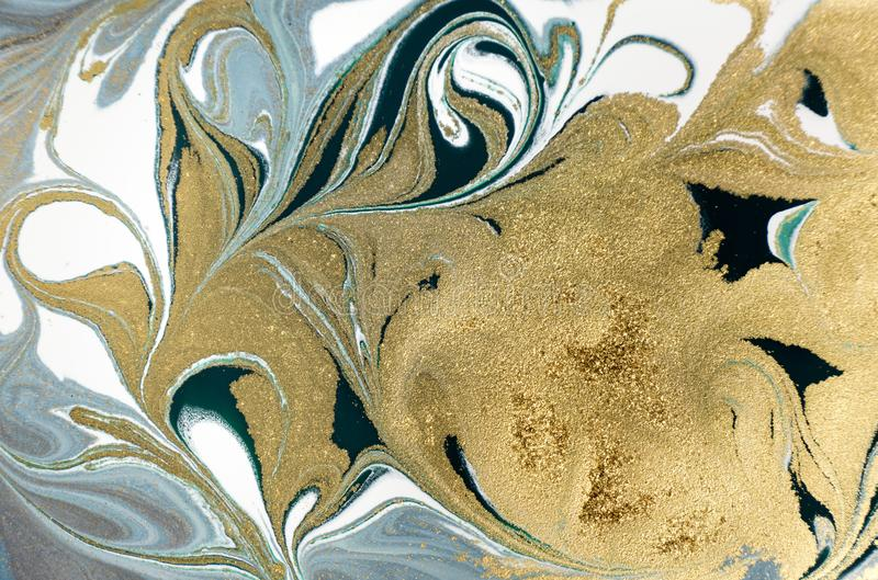 Marble abstract acrylic background. Nature marbling artwork texture. Golden glitter. Marble abstract acrylic background. Nature marbling artwork texture. Golden royalty free stock photo