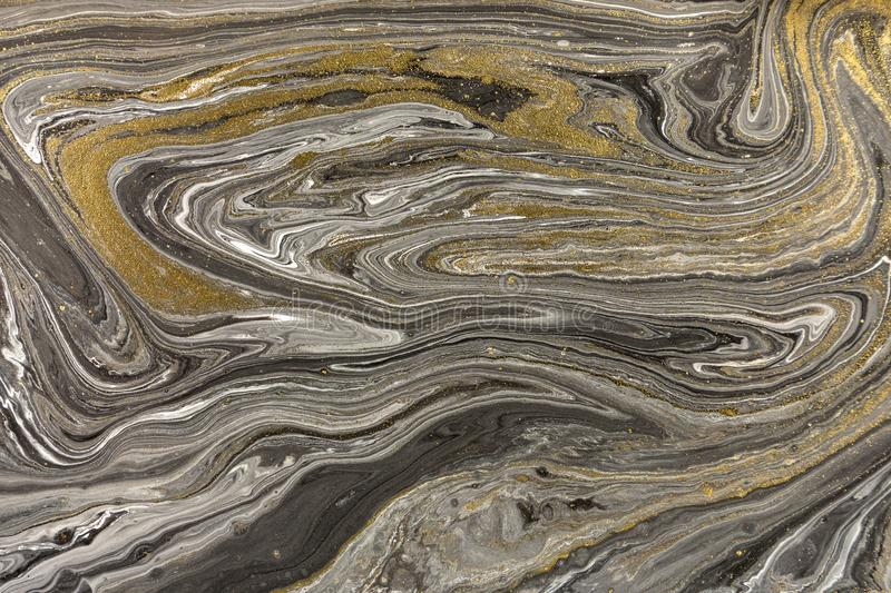 Marble abstract acrylic background. Nature marbling artwork texture. Golden glitter stock photos