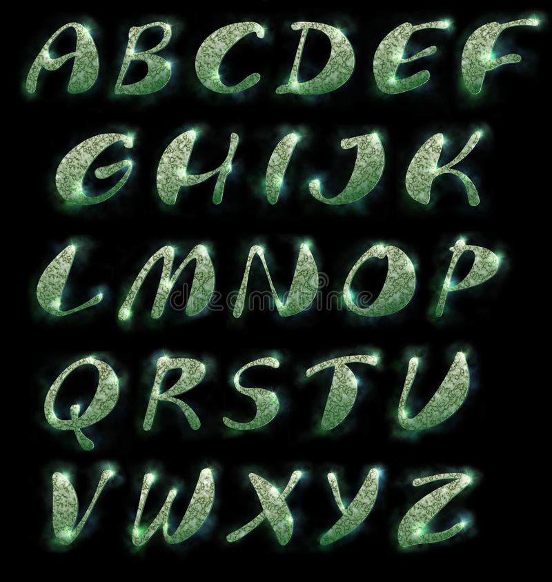 Download Marble alphabet, set stock illustration. Illustration of fabulous - 25390506