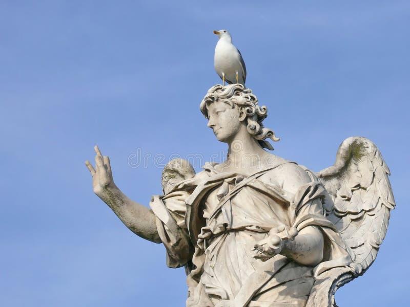 Marble angel. Michaelangelo bridge. Rome. royalty free stock photos