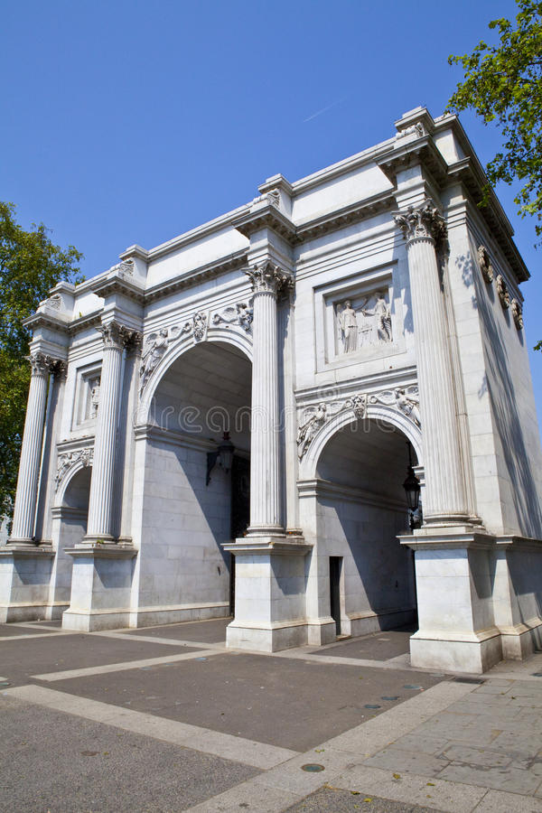 Download Marble Arch in London stock image. Image of britain, marble - 25787129