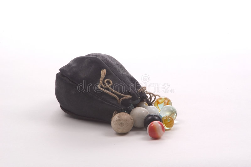 Download Marble Bag stock image. Image of play, leather, gather, marbles - 18265