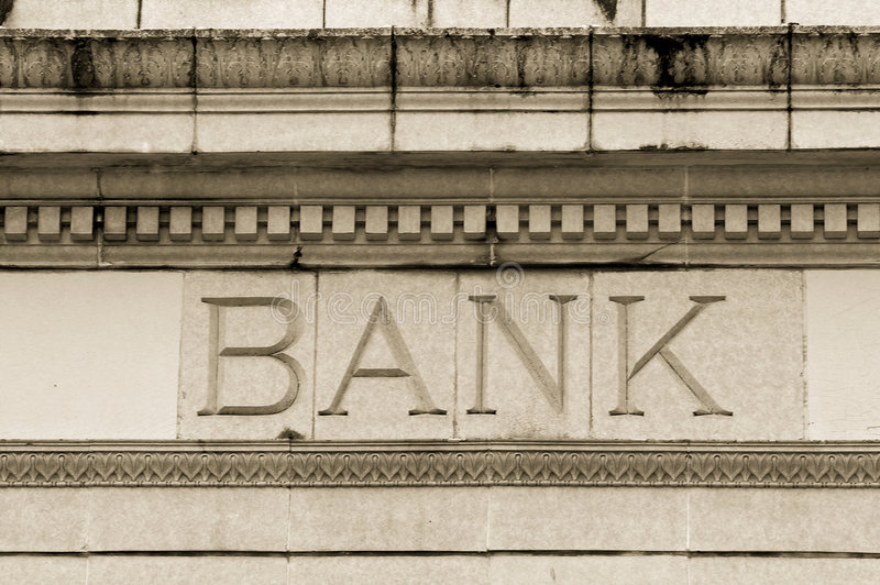 Marble Bank royalty free stock image