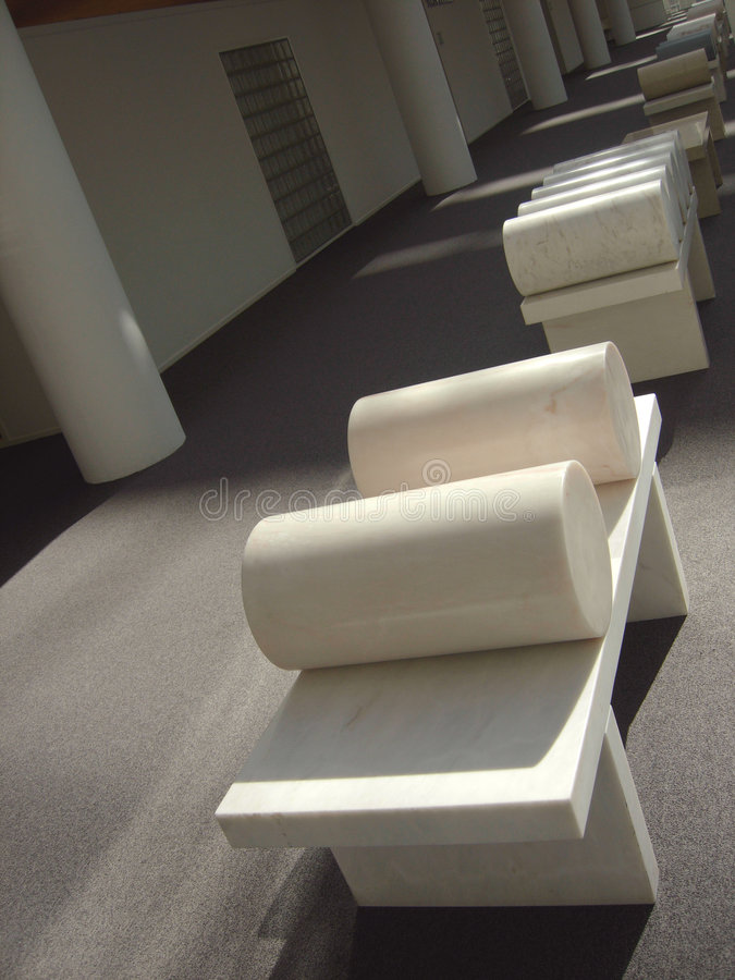 Marble bench stock image