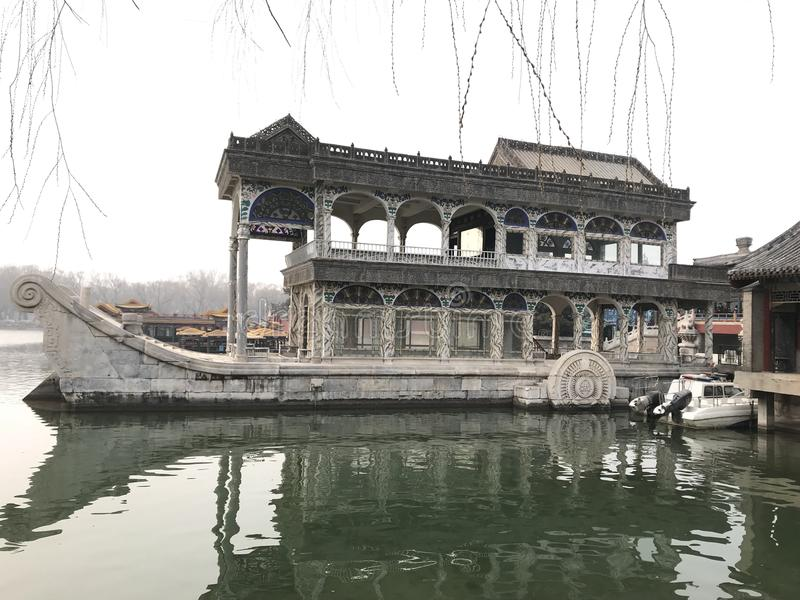Marble boat stock image