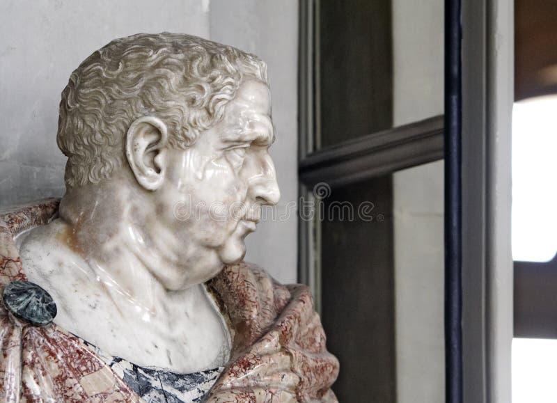 Marble bust. Vaux le Vicomte castle, France royalty free stock images