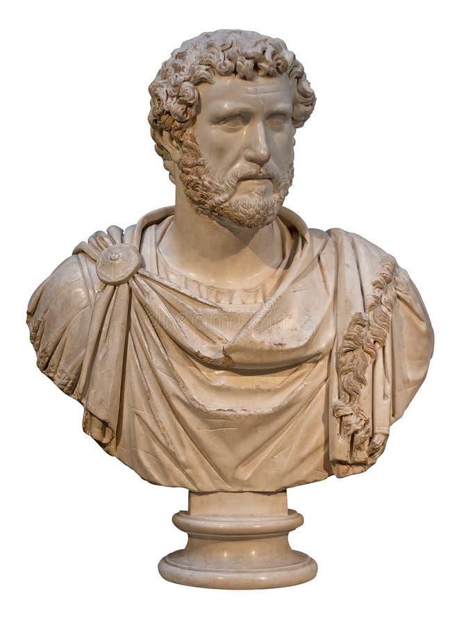 Marble bust of the roman emperor Antoninus Pius royalty free stock image