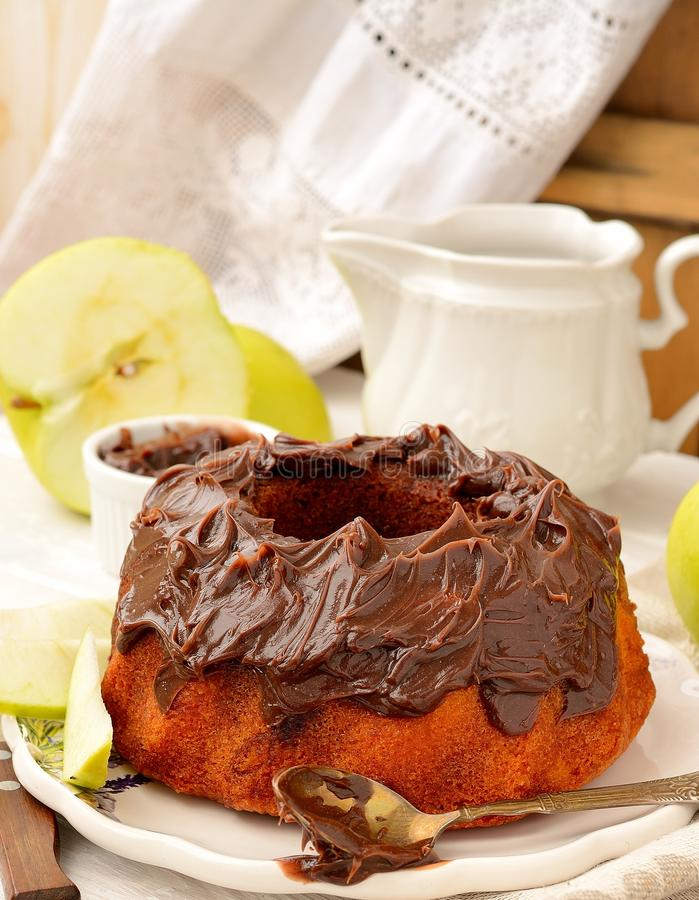Marble Cake White and Dark Chocolate stock photo
