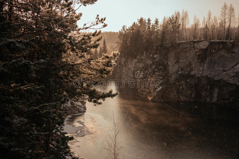 Marble Canyon in winter stock images