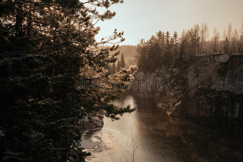 Marble Canyon in winter stock image