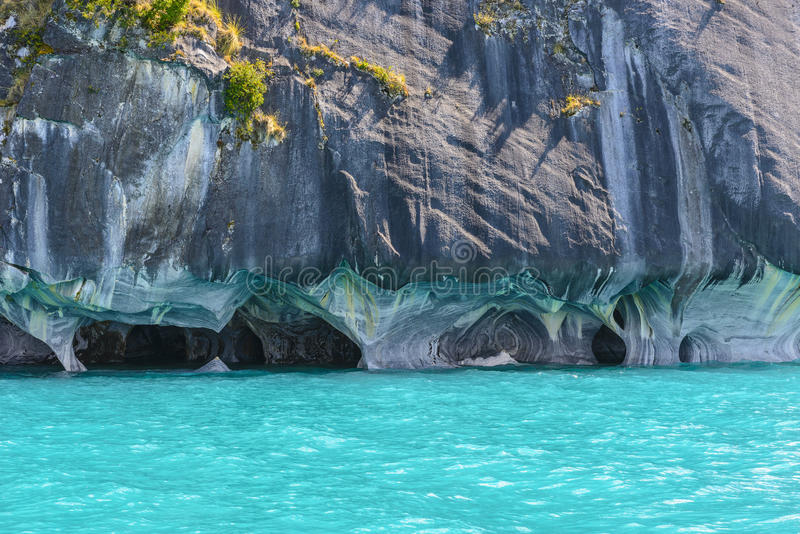 Marble Caves of lake General Carrera (Chile). Marble Caves of lake General Carrera, Chile stock photo
