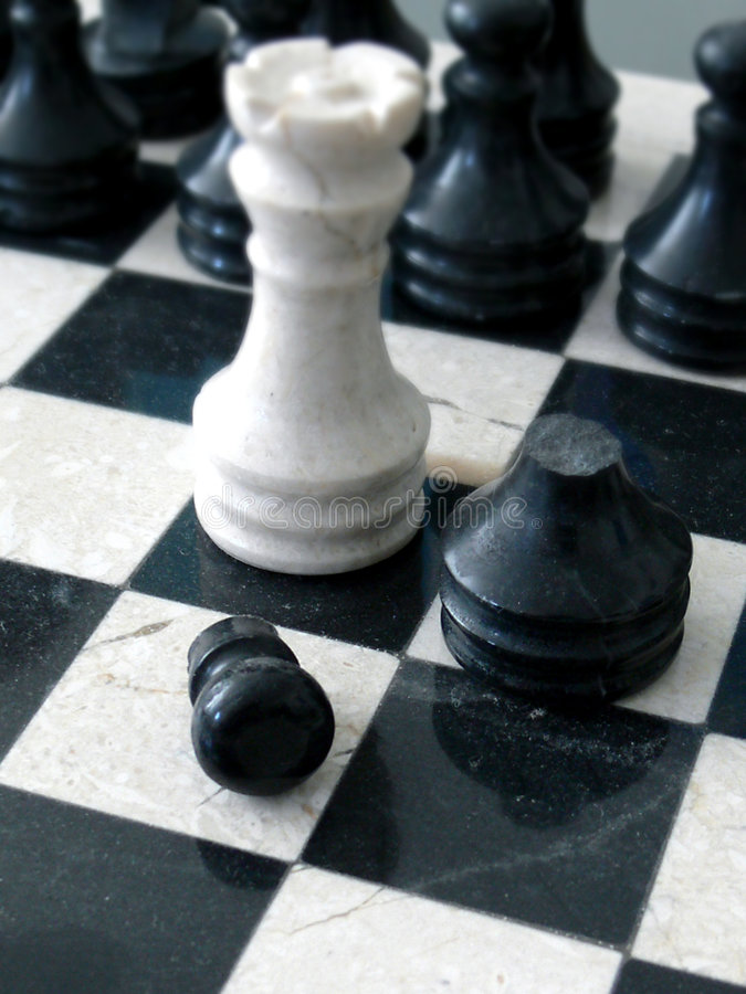 Marble chess royalty free stock photos