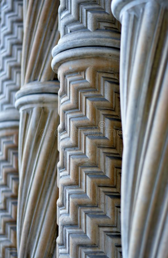 Marble columns royalty free stock photography
