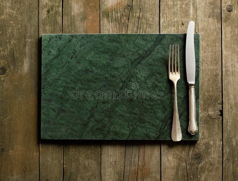 Marble cutting board royalty free stock image