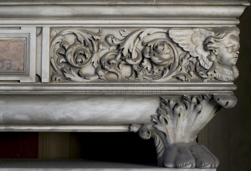 Marble Decoration (abstract element pattern). Marble Decoration Taken in Genova, Italy. If needed I can provide tiff file stock photo