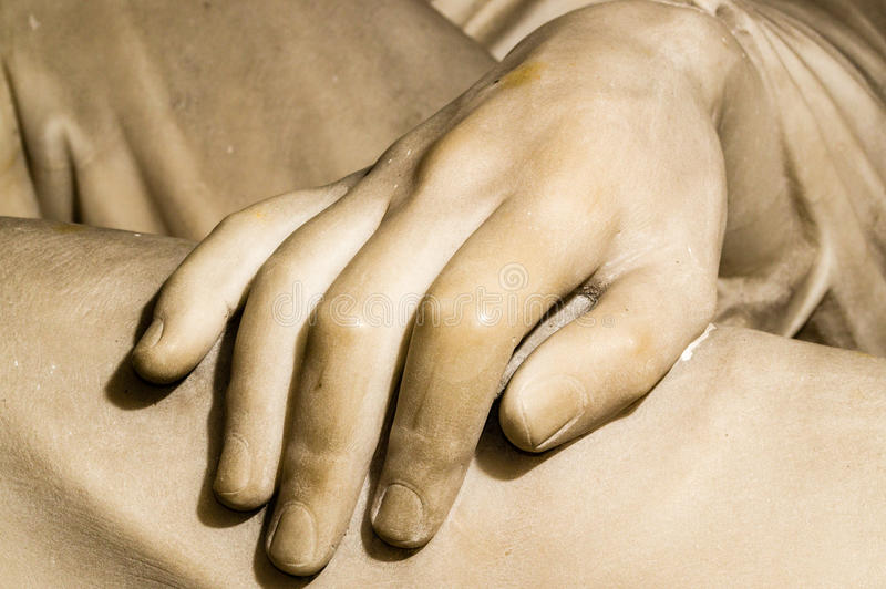 Marble Hand royalty free stock images