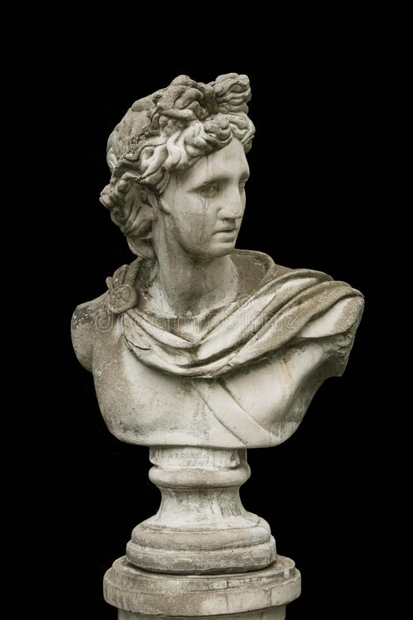 Free Marble Head Of An Ancient Greek God Bust Isolated Stock Photo - 131545370
