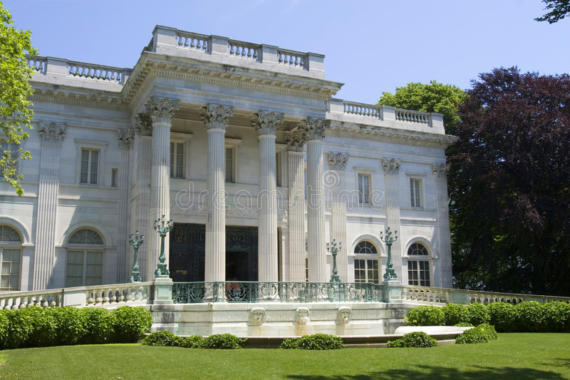 Marble House. House of Alva Vanderbilt stock image