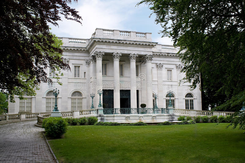Marble House Mansion stock images