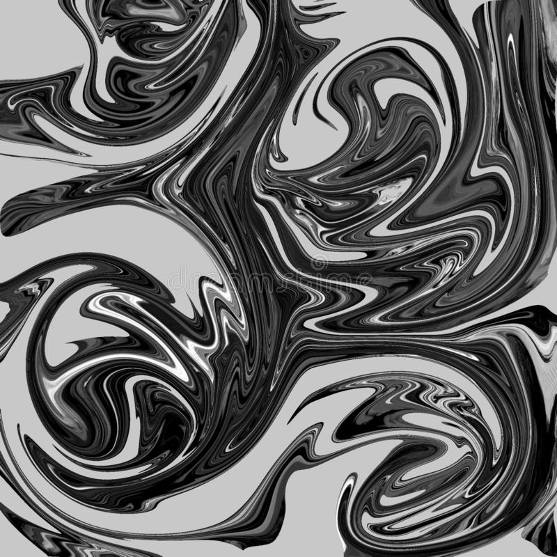 liquid abstract background with oil painting streaks stock illustration