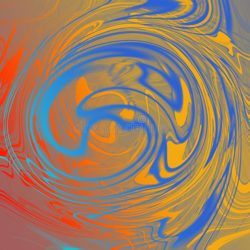 Marble liquid abstract background with oil painting streaks vector illustration